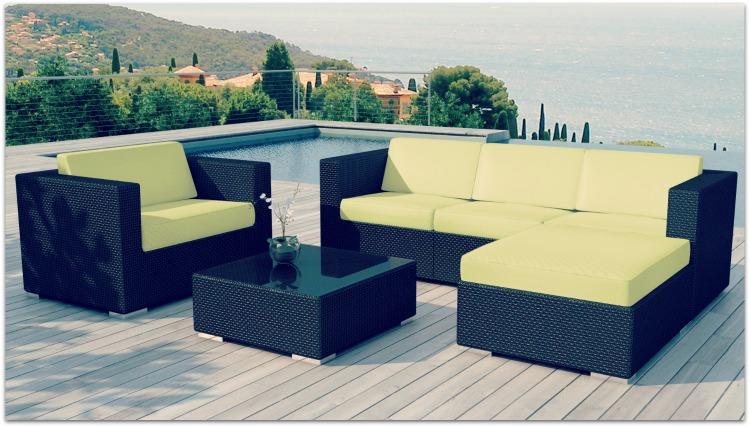 salon de jardin en r sine tress e. Black Bedroom Furniture Sets. Home Design Ideas